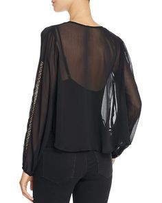$Band of Gypsies Embroidered Chiffon Blouse - Bloomingdale's
