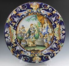 "Italiano Mitológicos grandes Mayólica Placa - 16 4/8 "" - Gorgeous"