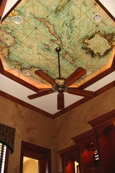 Might have loved ceiling with map as a child. Need it as an adult to help with geography!!