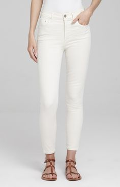 Cut from crisp white denim, the Rocket crop fit has a smooth, svelte silhouette and holds its shape beautifully. The pair falls to just above the ankle and looks good with just about anything -- add an edge with a leather jacket and strappy heels.