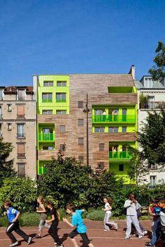 l e s L o G G i A s  12 LOGEMENTS SOCIAUX à PARIS 12e / 12 SOCIAL HOUSING IN PARIS, France maître d'ouvrage /client : SEMIDEP livraison /completed : 2011