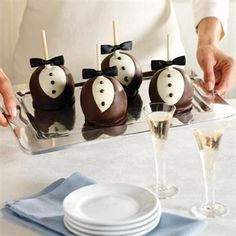View Dark and White Chocolate Petite Tuxedo Apples | Mrs. Prindable's Wedding Season 2013
