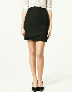 front layered skirt