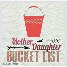 Mother-daughter bucket list