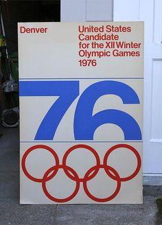 1976 Denver Winter Olympics Poster - denver 76 poster by massimo vignelli via aisle one denver 76 poster by massimo vignelli via aisle o - Massimo Vignelli, Web Design, Design Art, Logo Design, Retro Design, Print Design, Modern Design, Creative Posters, Cool Posters