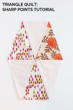 triangle quilt sharp points tutorial
