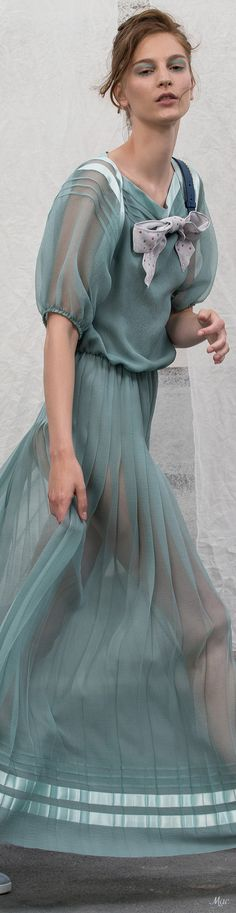 This sheer blue dress is just lovely. Blue Fashion, Fashion Show, Womens Fashion, Fashion Design, Giorgio Armani, Emporio Armani, Models, Italian Fashion, Mode Inspiration