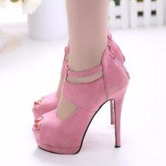 Trendy Design Peep Toe Stiletto Pump High Heels