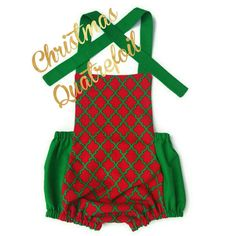 Check out this item in my Etsy shop https://www.etsy.com/listing/257954832/christmas-quatrefoil-romper-holiday