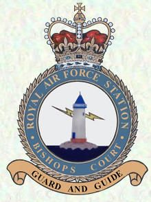 RAF Station BISHOPS COURT. Location, County: County Down, Northern Ireland.