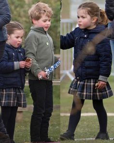 The Duke and Duchess of Cambridge, Prince George and Princess Charlotte were spotted at the Burnham Horse Trials 14 APR 2019