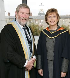 Diarmuid Hegarty, President of Griffith College with Mary McAleese, former President of Ireland, in 2007