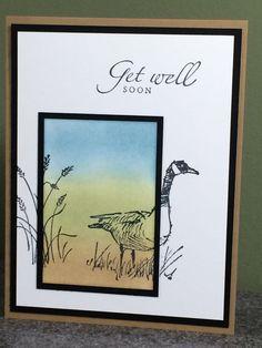 Stampin Up handmade card Get Well Soon #Handmade #GetWell