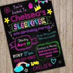 Birthday Sleepover Ideas, Sleepover Activities, Sleepover Party, Slumber Parties, Pj Party, Slumber Party Invitations, Birthday Invitations, Digital Invitations, Custom Invitations