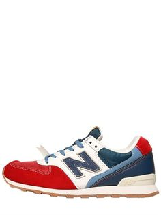 NEW BALANCE - 996 SUEDE NYLON SNEAKERS - LUISAVIAROMA - LUXURY SHOPPING WORLDWIDE SHIPPING - FLORENCE