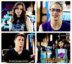 Arrow - Cisco, Roy, Caitlin and Felicity #3.8 #Season3
