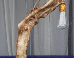 Handmade Stunning Unique Driftwood Tamble Lamp, Large Driftwood Trunk On driftwood Base