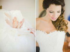Getting Dressed. Bride. Wedding.