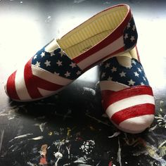 Stars 'n Stripes Hand Painted Shoes