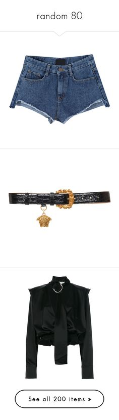 """random 80"" by noora-j ❤ liked on Polyvore featuring accessories, belts, black, versace, crocodile belt, versace belt, croc belt, dresses, tops and off white shirt"