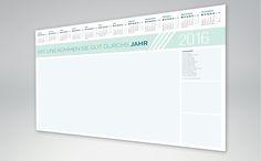 Schreibtischunterlage mit Kalender