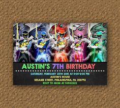 Special Power Rangers Dino Charge Invitation by PitchPerfectParty