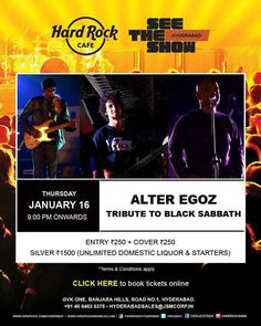 Alter Egoz - Tribute to Black Sabbath on 16 January 2014 at Hard Rock Cafe, GVK one Mall, Hyderabad