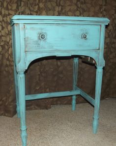 Re-finished Sewing Side Table