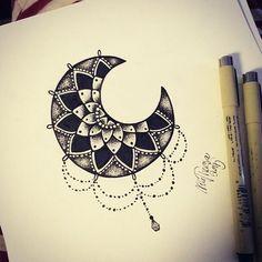 Mandala moon by Nellau666 on DeviantArt