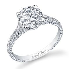 Diamond and platinum engagement ring by Neil Lane