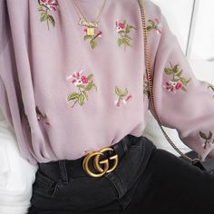 dainty floral sweater