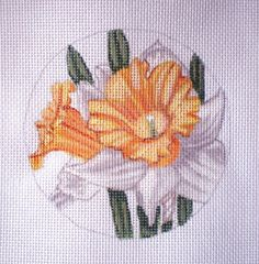 Handpainted Daffodil needlepoint canvas by colors1 on Etsy (Craft Supplies & Tools, Sewing & Needlecraft Supplies, Canvas & Stitchables, ornament, pattern, daffodil, flower, decoration, home decor, cross stitch, embroidery, needlepoint, needlepoint canvas, needlepoint pillow, needlepoint pattern, needlecraft)
