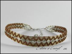 EnVerre et Contrefil, necklace brass, bronze, copper and silver