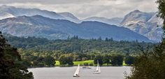 The Lake District, Cumbria is superb... home to Scafell Pike - England's highest mountain, Wastwater - its deepest lake and thriving communities like Keswick and Bowness-on-Windermere.  Boats, towns, lots of lakes and walks.. Beatrix Potter loved it! This is a view of boats on Windermere from Lake District Visitor Centre copyright Charlie Hedley