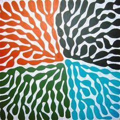 Buy artworks from Frances Keevil Gallery Sydney featuring © Indigenous Art Mitjili Napurrula acrylic on canvas