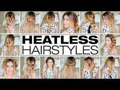 23 Outrageously Easy 3 Minute Heatless Hairstyles - YouTube