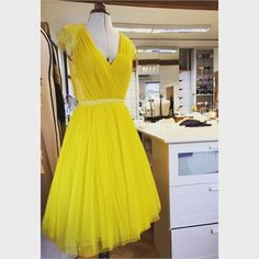 parlorstudioFlashy yellow for electric parties #parlorstudio #parlordress #parlorparty #silk #lace #handmade #demicouture #glam #style
