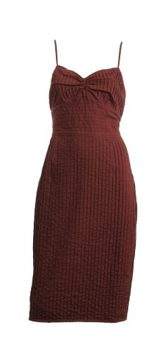 New with Tags Betsey Johnson Maroon Spaghetti Strap Pin tucks Day Dres – London Couture