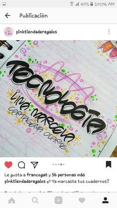 Graffiti Lettering, Notebook, Scrapbook, School, Books, Diy, Ideas, Texts, Frases