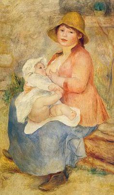 Mother Nursing her Child   by Pierre-Auguste Renoir