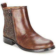 #botines de piel marrón. #zapatosmujer