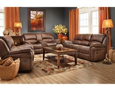 Loveseats Winfield Console Loveseat Recliner With Leather Like Style