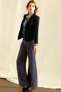 Love the blazer with printed pants