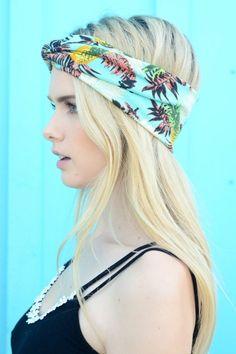 Tropical Twist Headband - Mint