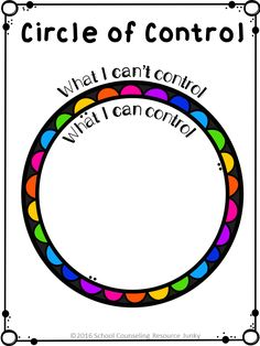 Early Elementary Counseling: What Are Things I Can Control & I Can't Control Circle of Control Activities for Individual Counseling, Small Groups, and Developmental Guidance Lessons. Elementary Counseling, Counseling Activities, Group Counseling, Art Therapy Activities, School Counselor, Coping Skills Activities, Anxiety Activities, Learning Skills, Social Work Activities