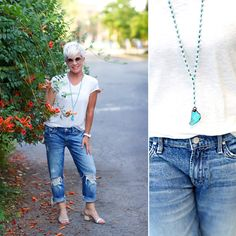 I may or may not be styling these distressed jeans in a more dressed up way tomorrow! Continuing with my thought of showing how t...