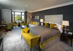Boutique Hotel | Northcote Hotel interior design by Ward Robinson | Lancashire | Bedroom