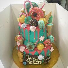 Two-Tiered Unicorn Birthday Cake