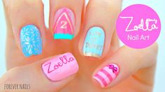 Zoella Beauty Nail Art | Sweet Inspirations #zoellanailtutorial #nailtutorial