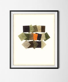 Download Printable Art, Abstract Geometric Poster,Grunge Shapes, Minimalism, Stains,  Digital Manipulated, Texture, Squares, Halftone File, by STRNART on Etsy